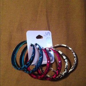 COPY - Wild, exotic, animal print earrings. NWT. …